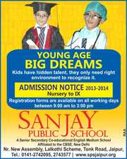 Admission Open at SANJAY PUBLIC SCHOOL,  Jaipur