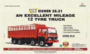 EICHER 35.31 IS THE BEST FUEL EFFICIENT 12 TYRE TRUCK