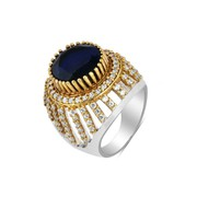 Shree Nandita Silver Black Stone Ring