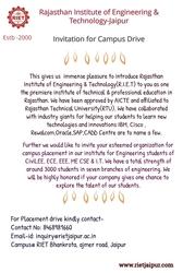 Invitation for Campus Drive _RIET COLLEGE JAIPUR