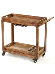 Wooden and Metal Trolley/Cart @ best price on Dezaro.