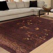 Rugsville Opera Silk & Wool Brown Rug 10086