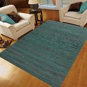 Rugsville Texture Green Sari Silk Dhurrie Rug 5' x 8'