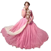 Baby Pink Floor Length Partywear Gown