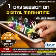 One day workshop on Digital Marketing at Ducat Jaipur