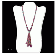 RUBY SAPPHIRE BEADS NECKLACE