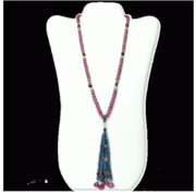 RUBY SAPPHIRE BEADS NECKLASE