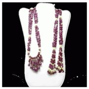 RUBY FACETED BEADS LARIATS