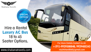 Hire a Rental Luxury AC Bus - 18 to 45 Seater Options