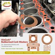 Rubberised Cork Washers manufacturer,  Supplier & Exporter