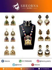 Buy Kundan Meenakari Jewellery Online from Sheorna