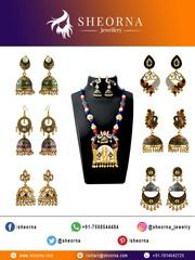Buy Kundan Meenakari Jewellery Online from Sheorna