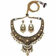 Buy Kundan Meenakari Necklace Online from MK Jewellers