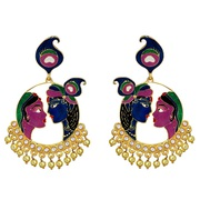 Buy Kundan Meenakari Earrings Online from MK Jewellers