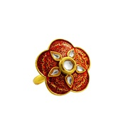 Buy Fashion Kundan Meenakari Finger Rings for Women Online