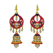 Buy Kundan Meenakari Earrings Jhumka Bali Online from MK Jewellers