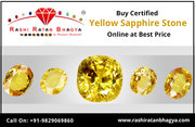 Buy Original Sri Lankan Yellow Sapphire Pukhraj Gemstone Online in Ind