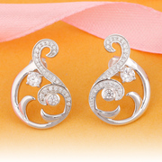 Online Shopping Silver Earrings