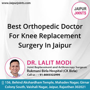 Best Orthopedic Doctor For Knee Replacement Surgery In Jaipur
