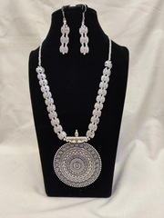 Buy Oxidized German Silver Necklace Set Online for Women